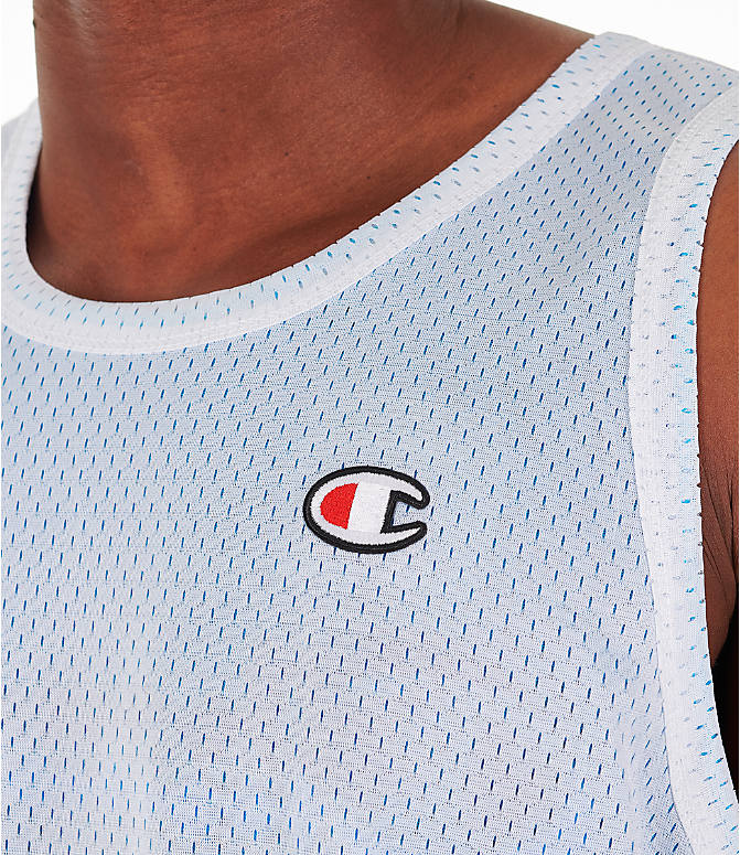 Detail 2 view of Men's Champion Reversible Mesh Tank in Active Blue/White
