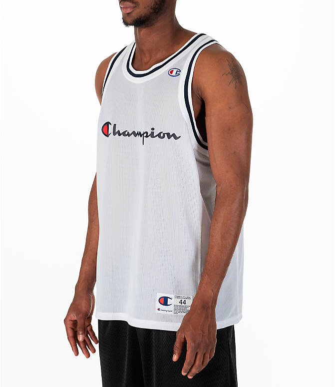 Front Three Quarter view of Men's Champion Graphic Mesh Jersey