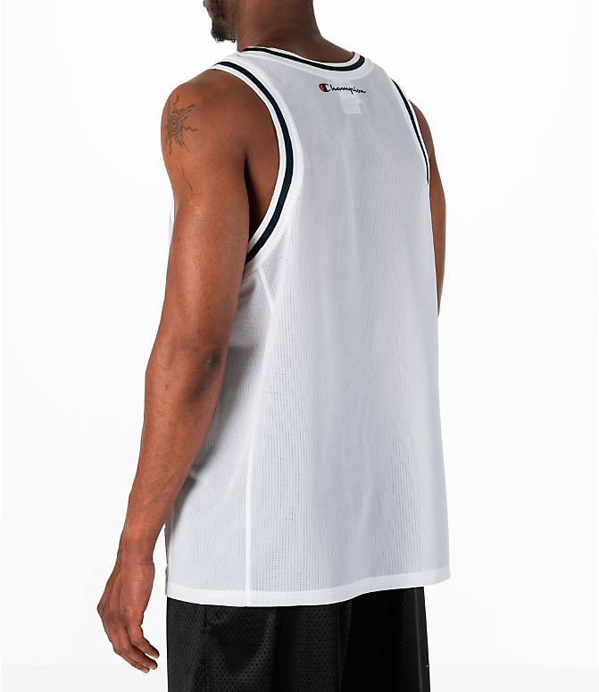 Back Left view of Men's Champion Graphic Mesh Jersey