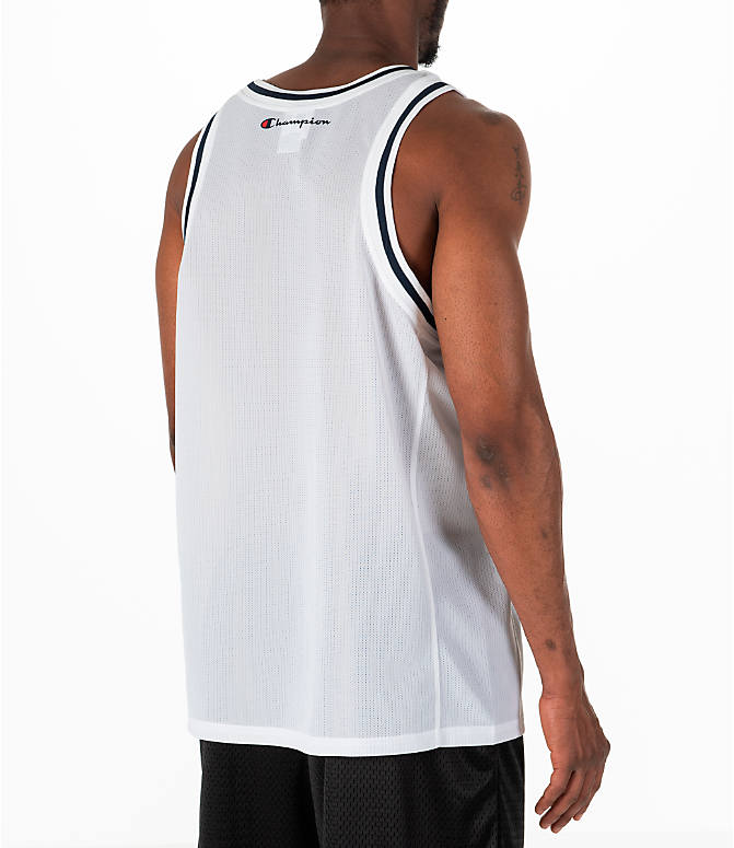 Back Right view of Men's Champion Graphic Mesh Jersey