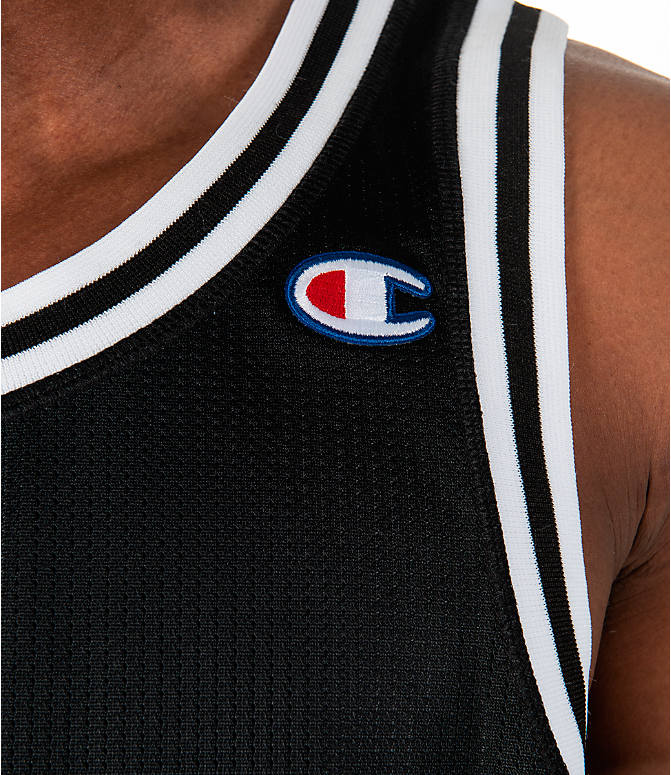 Detail 1 view of Men's Champion City Mesh Jersey in Black/White