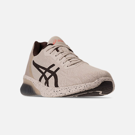 Three Quarter view of Men's Asics GEL-Kenun MX SP Running Shoes in Birch/Coffee/Blossom