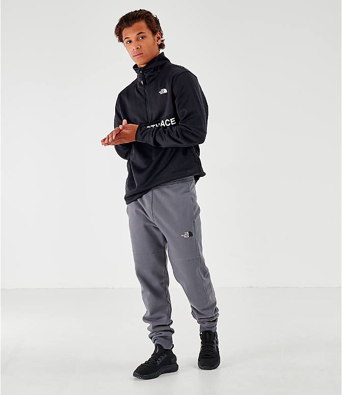 Front Three Quarter view of Men's The North Face Bondi Vanadis Jogger Pants in Grey