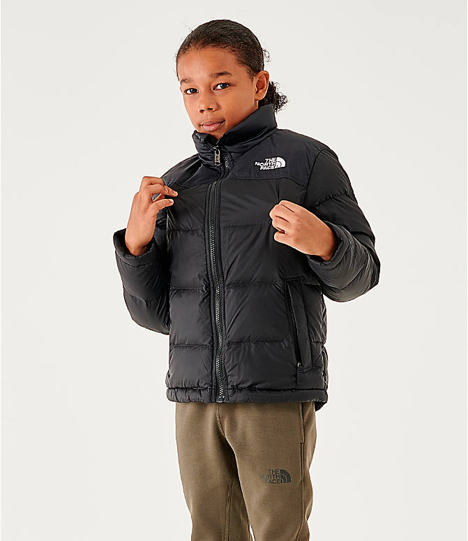 0f90c4fe7f86a Front view of Kids' The North Face 1996 Retro Nuptse Jacket in Black