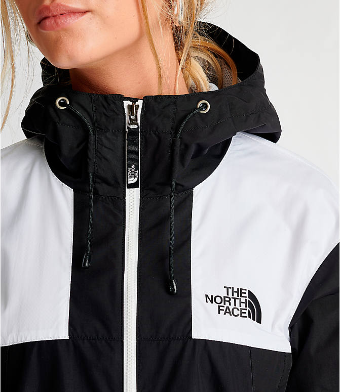 Detail 1 view of Women's The North Face Panel Wind Jacket in Black/White