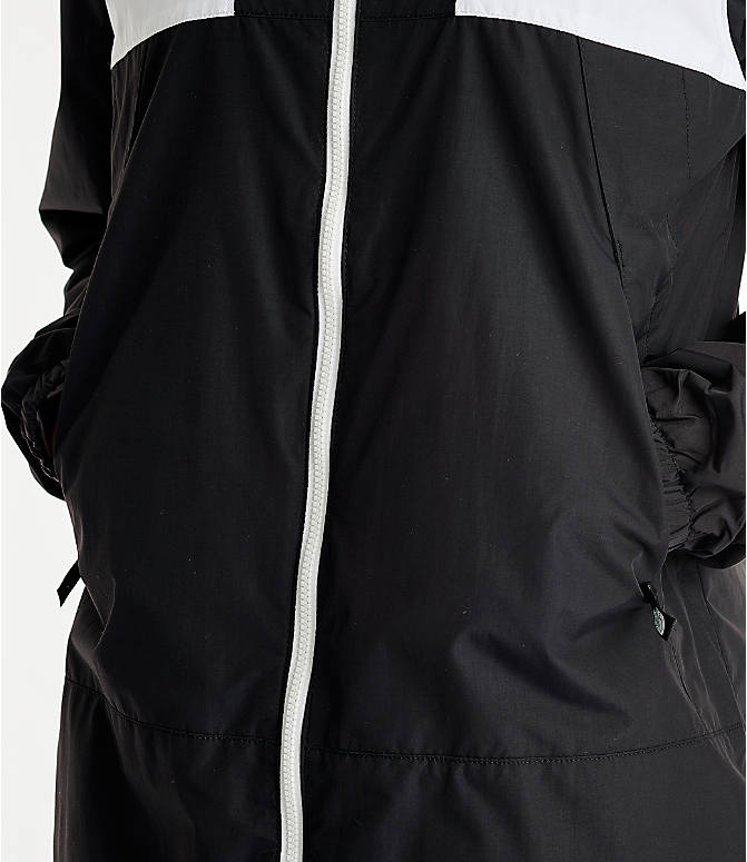 Detail 2 view of Women's The North Face Panel Wind Jacket in Black/White
