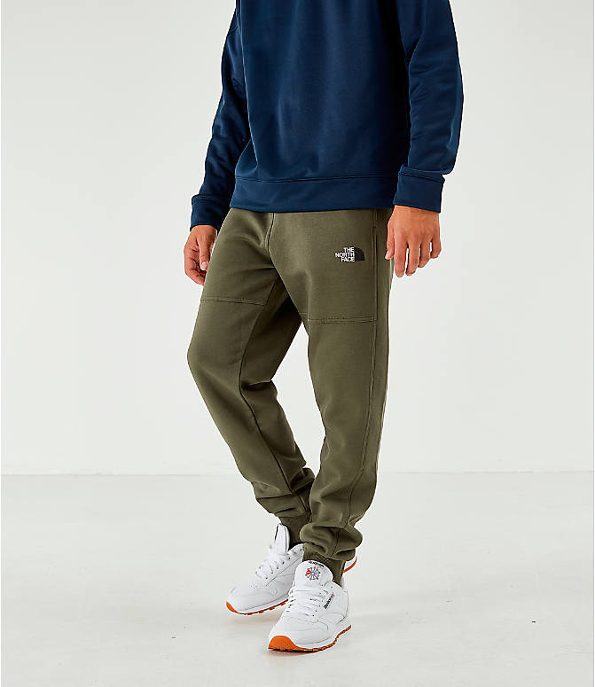Front view of Men's The North Face Bondi Fleece Jogger Pants in Trace Cargo