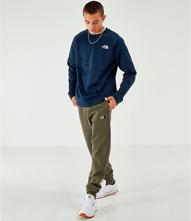 Front Three Quarter view of Men's The North Face Bondi Fleece Jogger Pants in Trace Cargo