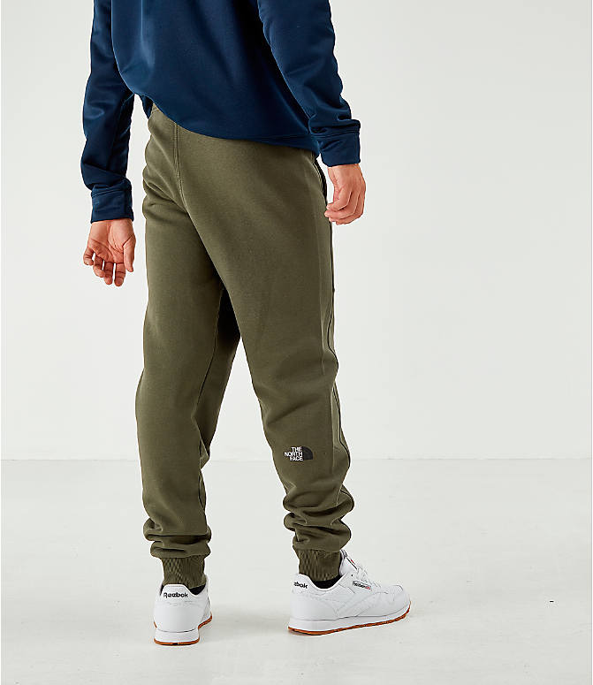 Back Left view of Men's The North Face Bondi Fleece Jogger Pants in Trace Cargo