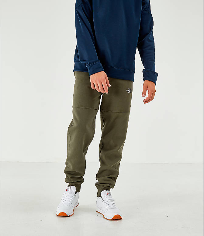 Back Right view of Men's The North Face Bondi Fleece Jogger Pants in Trace Cargo
