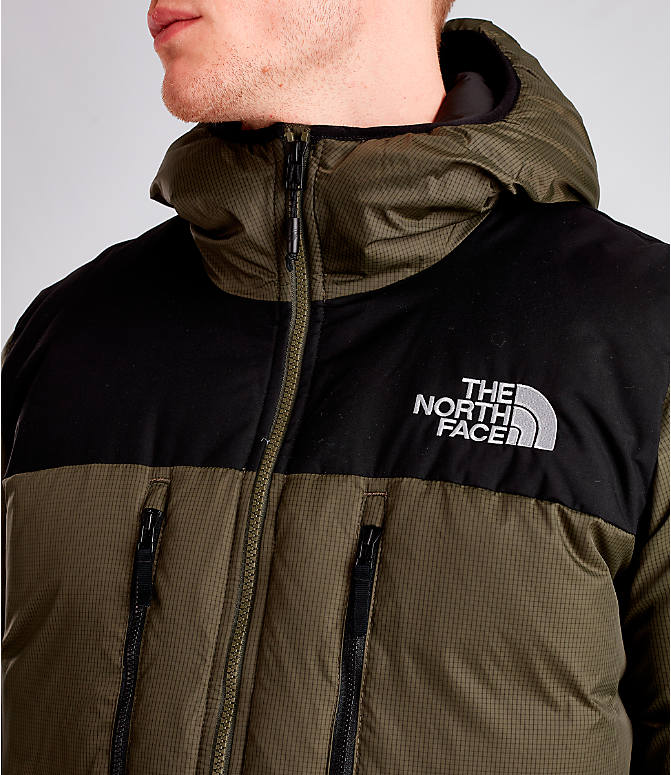 Detail 1 view of Men's The North Face Himalayan Parka in Dark Green