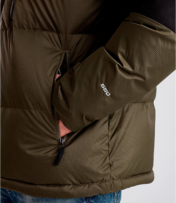 Detail 2 view of Men's The North Face Himalayan Parka in Dark Green