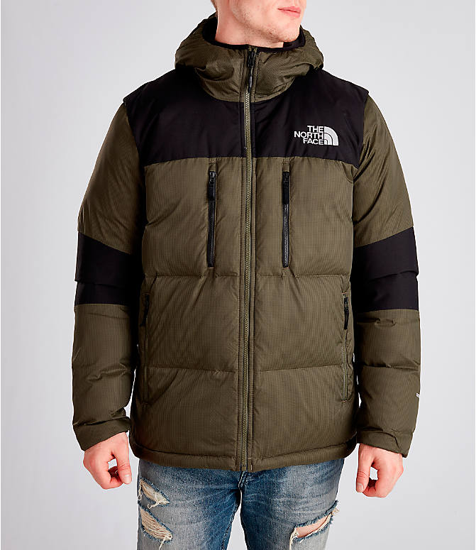 Front view of Men's The North Face Himalayan Parka in Dark Green
