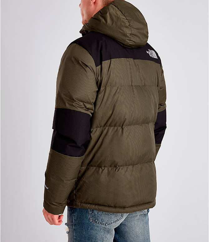 Back Left view of Men's The North Face Himalayan Parka in Dark Green