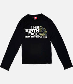 Kids' The North Face Camo Long-Sleeve T-Shirt
