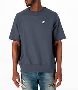 Men's Champion Reverse Weave Short-Sleeve Crew Sweatshirt