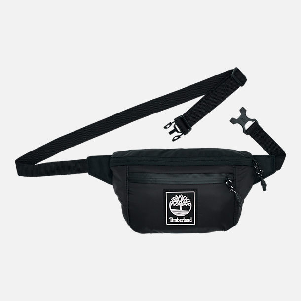 Front view of Timberland Recover Waist Pack in Black/White