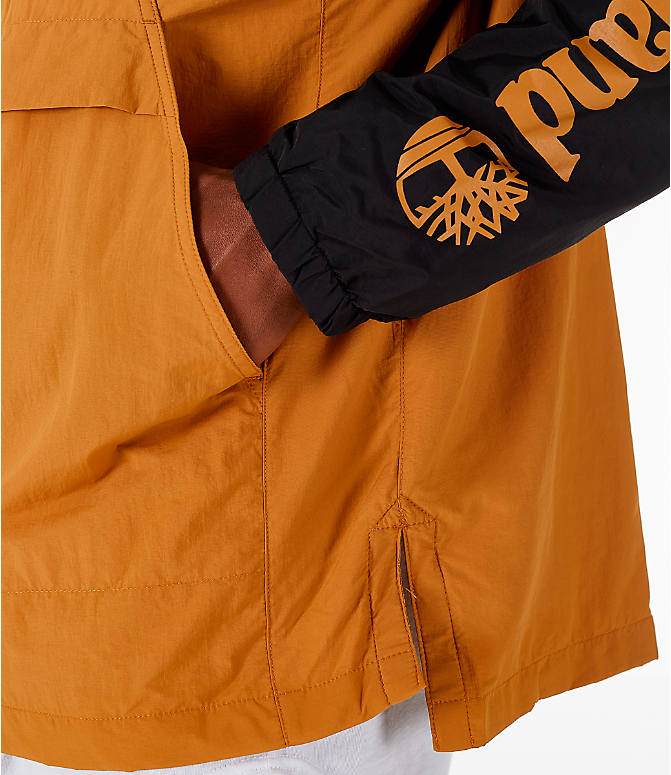 Detail 2 view of Men's Timberland Color Block Windbreaker Jacket in Black/Wheat