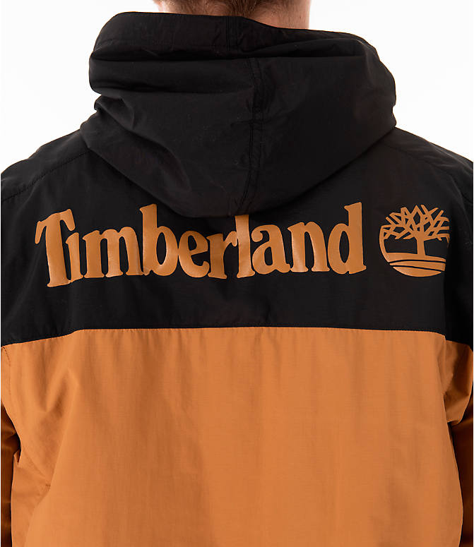 Detail 2 view of Men's Timberland SLS Wind Hooded Jacket in Wheat/Black