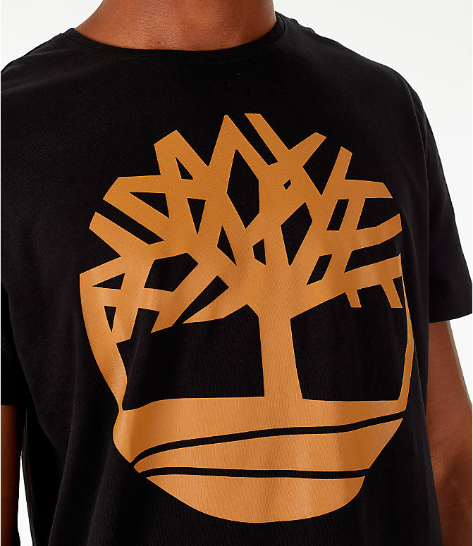 Detail 1 view of Men's Timberland Big Tree Logo T-Shirt in Black