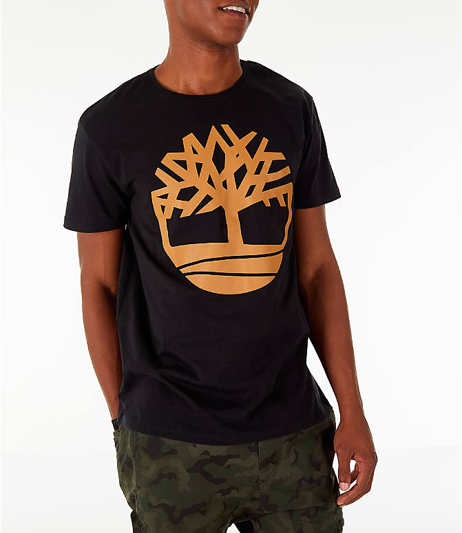 Detail 2 view of Men's Timberland Big Tree Logo T-Shirt in Black