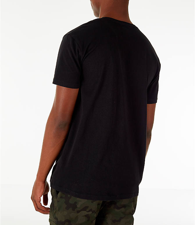 Back Left view of Men's Timberland Big Tree Logo T-Shirt in Black