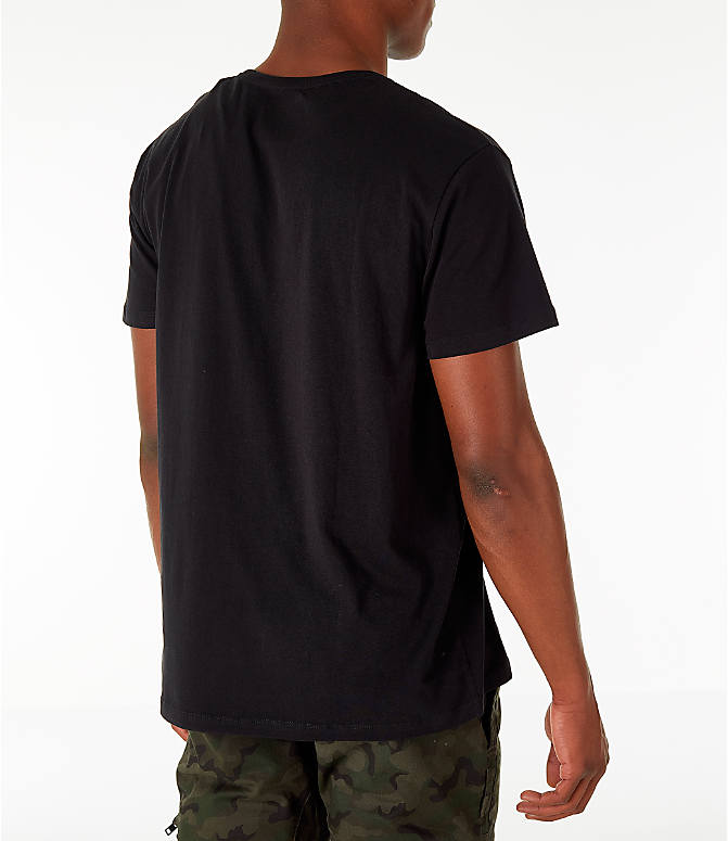 Back Right view of Men's Timberland Big Tree Logo T-Shirt in Black