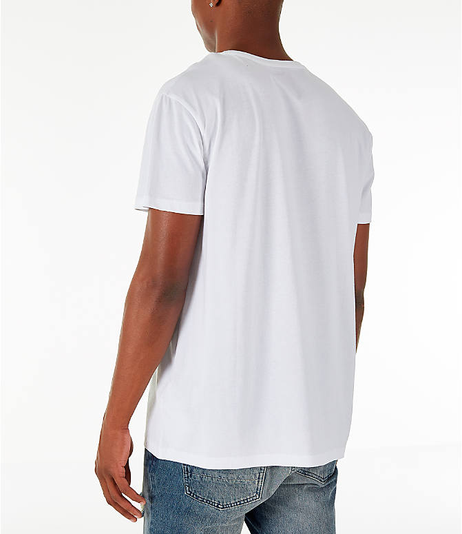 Back Left view of Men's Timberland Big Tree Logo T-Shirt in White