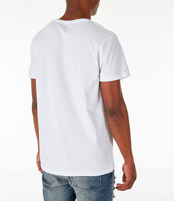 Back Right view of Men's Timberland Big Tree Logo T-Shirt in White