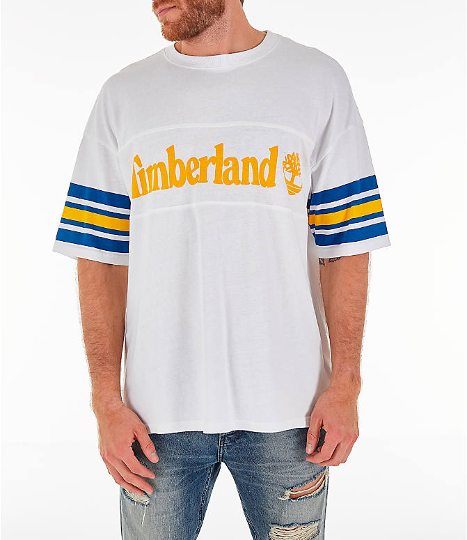 Front view of Men's Timberland Oversized T-Shirt in White