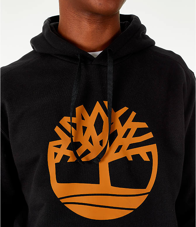Detail 1 view of Men's Timberland Big Tree Logo Hoodie in Black