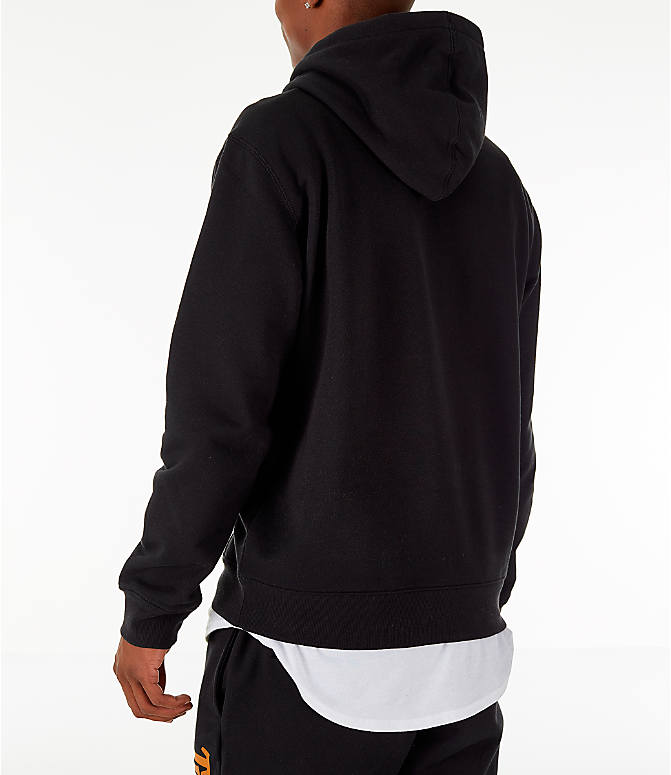 Back Left view of Men's Timberland Big Tree Logo Hoodie in Black