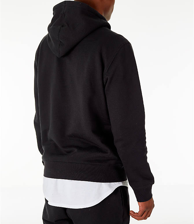 Back Right view of Men's Timberland Big Tree Logo Hoodie in Black