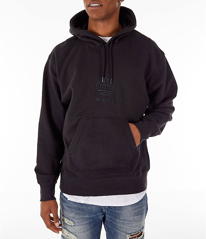 Front view of Men's Timberland Oversized Hoodie in Black