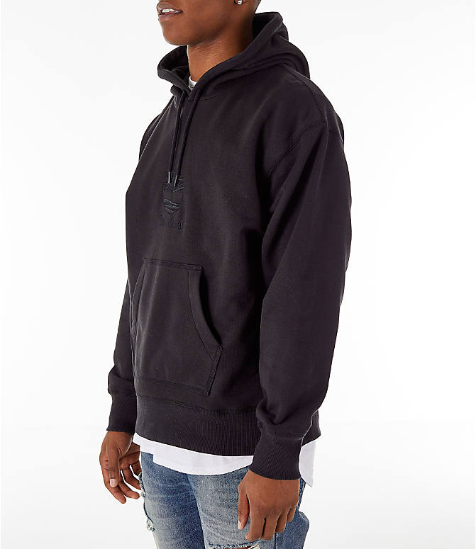 Front Three Quarter view of Men's Timberland Oversized Hoodie in Black