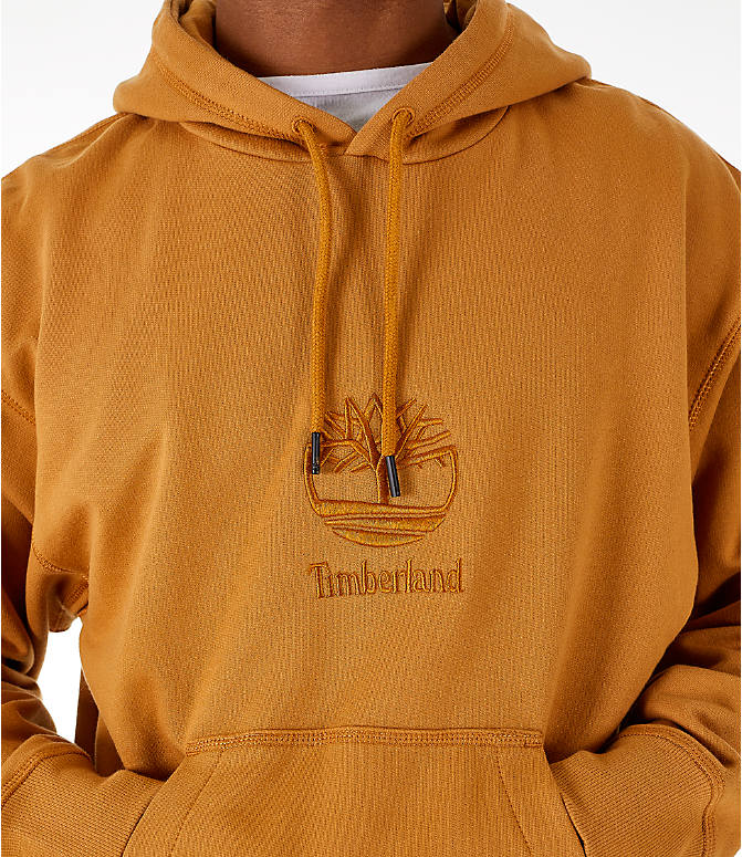 Detail 1 view of Men's Timberland Oversized Hoodie in Wheat