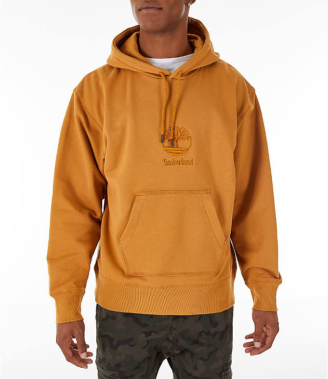 Front view of Men's Timberland Oversized Hoodie in Wheat