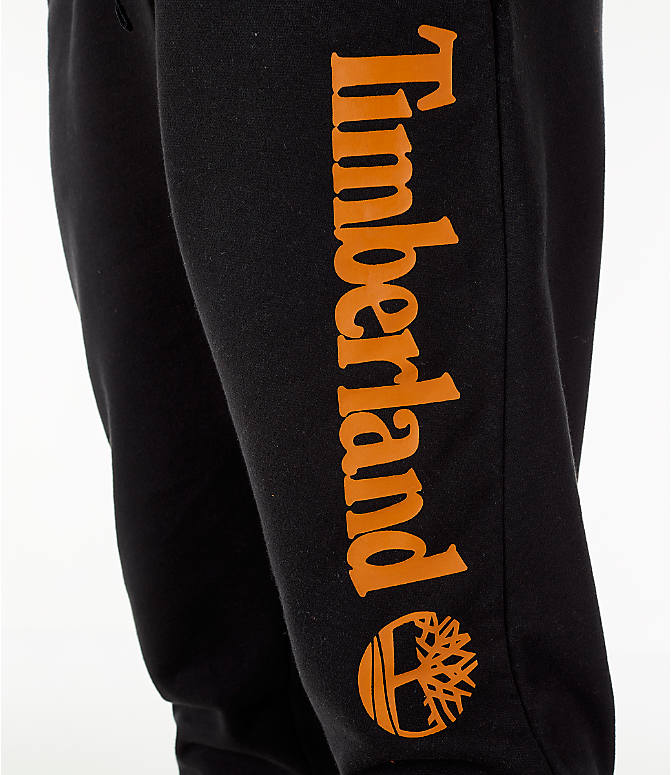 Detail 2 view of Men's Timberland Logo Jogger Pants in Black