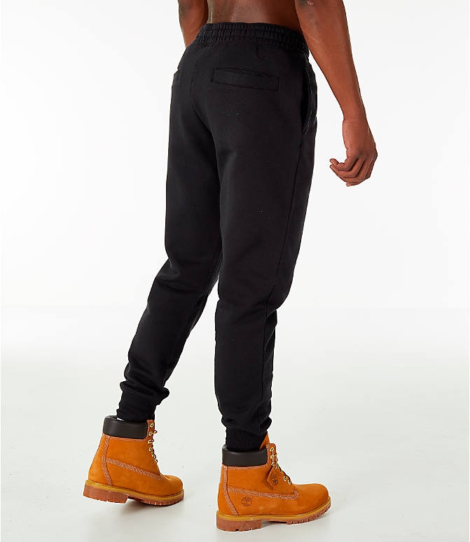 Back Right view of Men's Timberland Logo Jogger Pants in Black