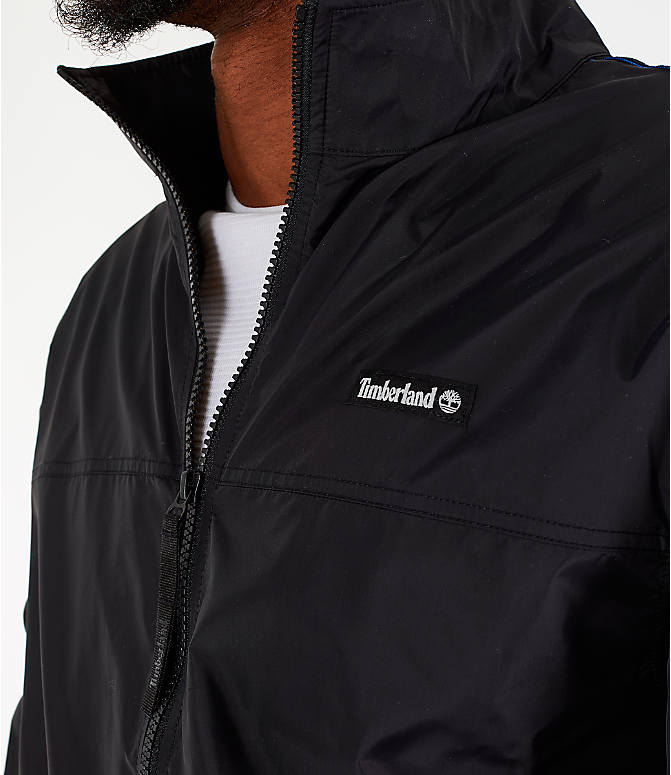 Detail 1 view of Men's Timberland Taped Track Jacket in Black