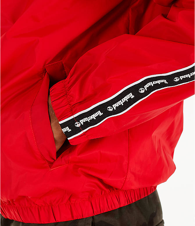 Detail 2 view of Men's Timberland Taped Track Jacket in Red
