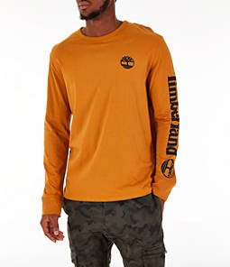 Men's Timberland Logo Long-Sleeve T-Shirt