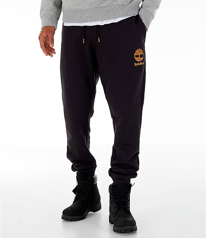 Front view of Men's Timberland Jogger Sweatpants in Black