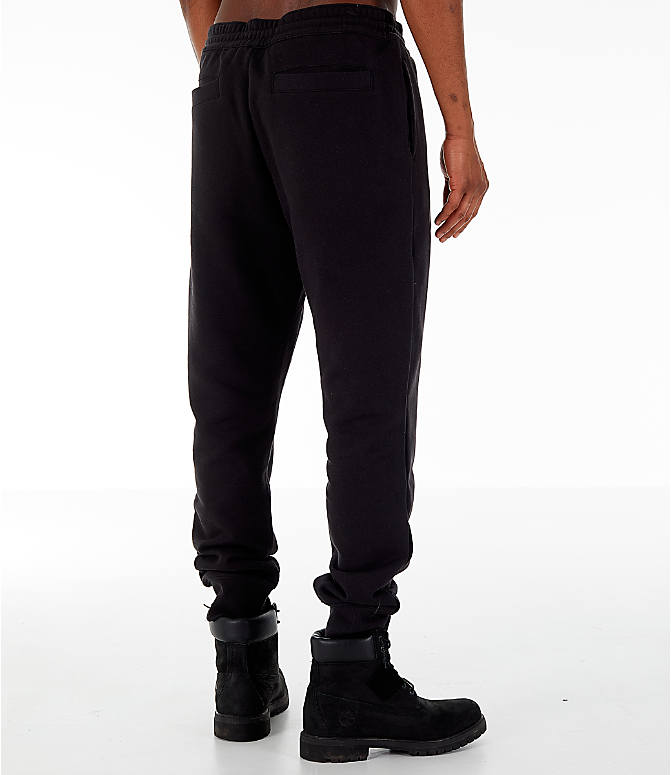 Back Right view of Men's Timberland Jogger Sweatpants in Black