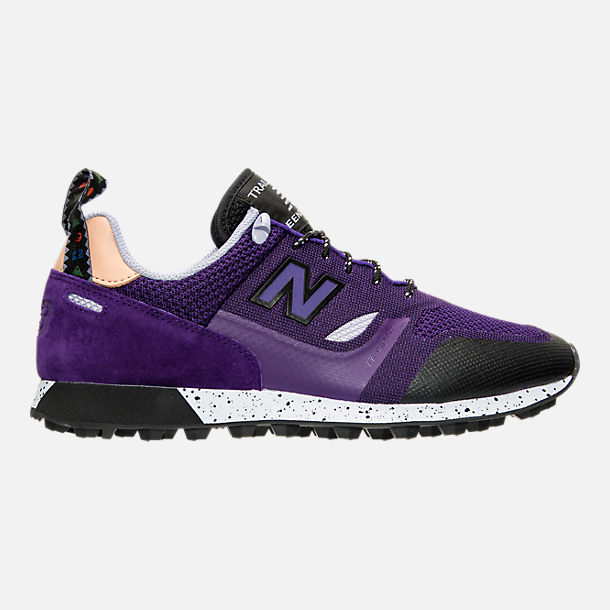 Right view of Men's New Balance Trailbuster Casual Shoes in Purple/Lilac