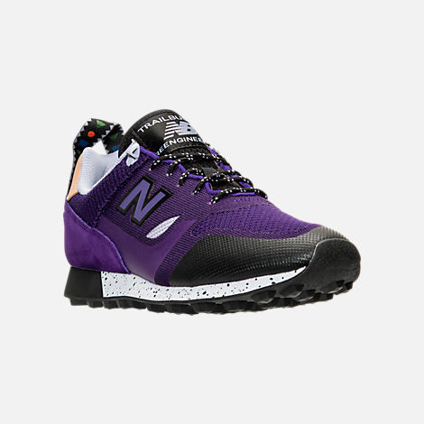 Three Quarter view of Men's New Balance Trailbuster Casual Shoes in Purple/Lilac