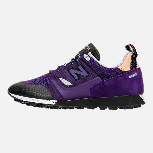 Left view of Men's New Balance Trailbuster Casual Shoes in Purple/Lilac