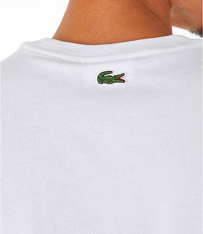 Detail 2 view of Men's Lacoste Allover Print T-Shirt in White