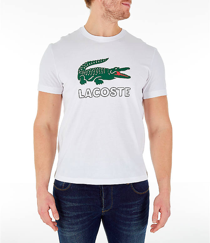af16b94ba6 Men's Lacoste Big Croc Script T-Shirt