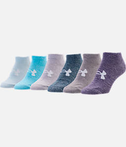 Women's Under Armour Solid 6-Pack No Show Essential Socks